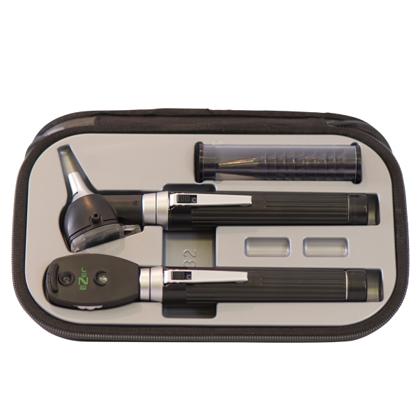 ez-oto-1800 ion Ophthalmoscope and Otoscope Diagnostic Set 2 Pcs Li-ion Handle Charger and Zipper Bag Ezer - us ophthalmic